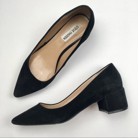 1388bf0fa74 Steve Madden black pointed Chunky heel pumps. M 5c7b65d78ad2f911dfc7f6cd